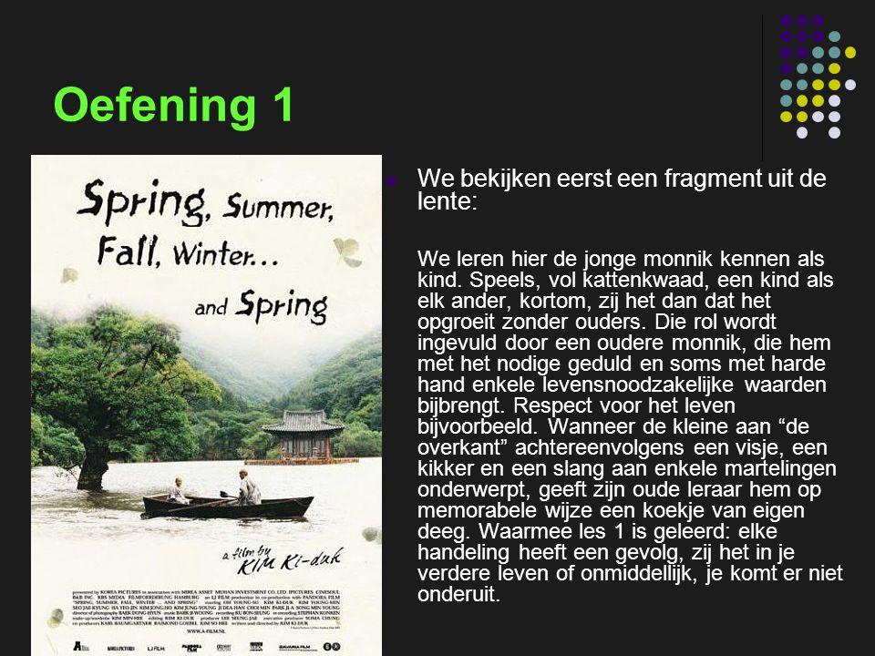 insp-beg RKG Antwerpen Oefening 1 Father and daughter We bekijken eerst een fragment uit de lente: We leren hier de jonge monnik kennen als kind. Spee