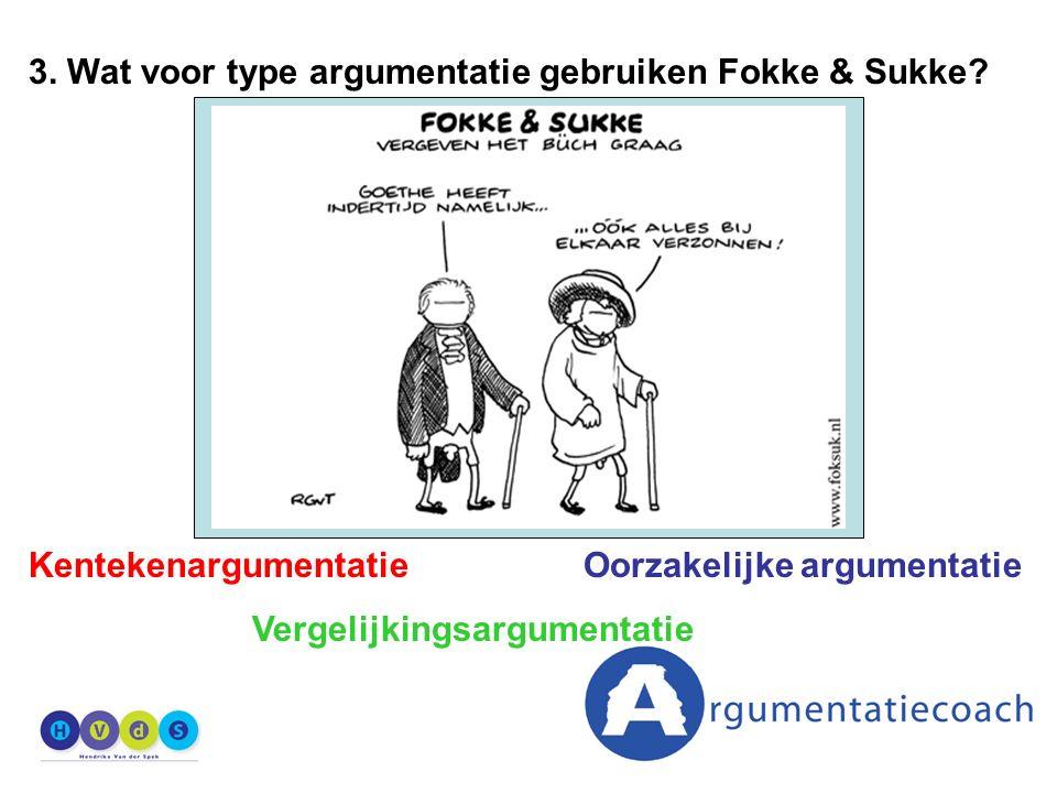 3. Wat voor type argumentatie gebruiken Fokke & Sukke.
