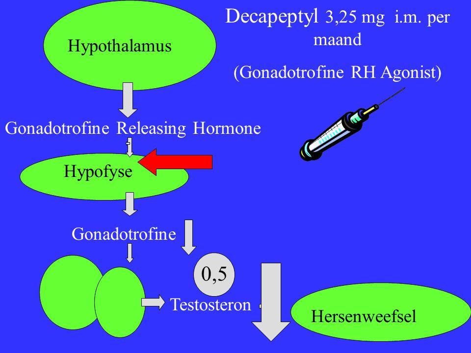 Hypothalamus Gonadotrofine Releasing Hormone Hypofyse Gonadotrofine Testosteron Hersenweefsel Decapeptyl 3,25 mg i.m.