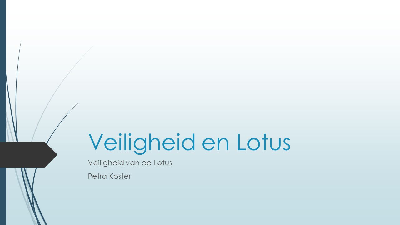 Veiligheid  Je bent zelf verantwoordelijk voor je eigen lichaam, maar de instructeur moet erop toezien dat je goed behandeld wordt  Neem alle aandachtspunten van het Lotus leerboek (blz.