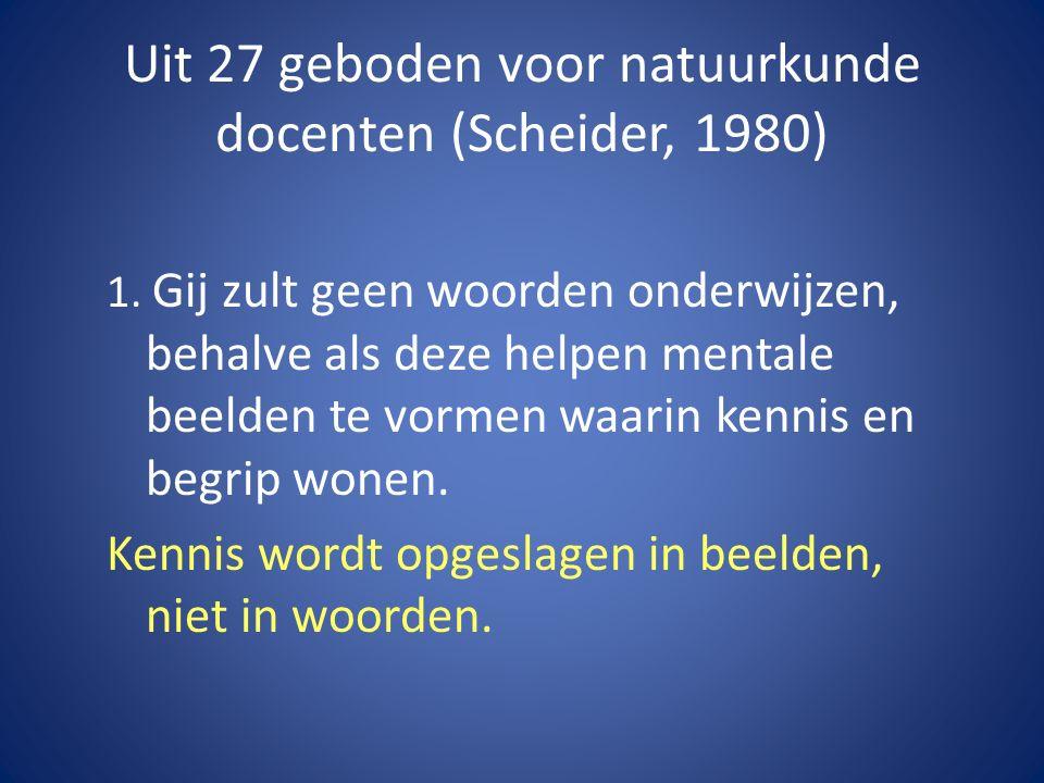 Uit 27 geboden voor natuurkunde docenten (Scheider, 1980) 1.