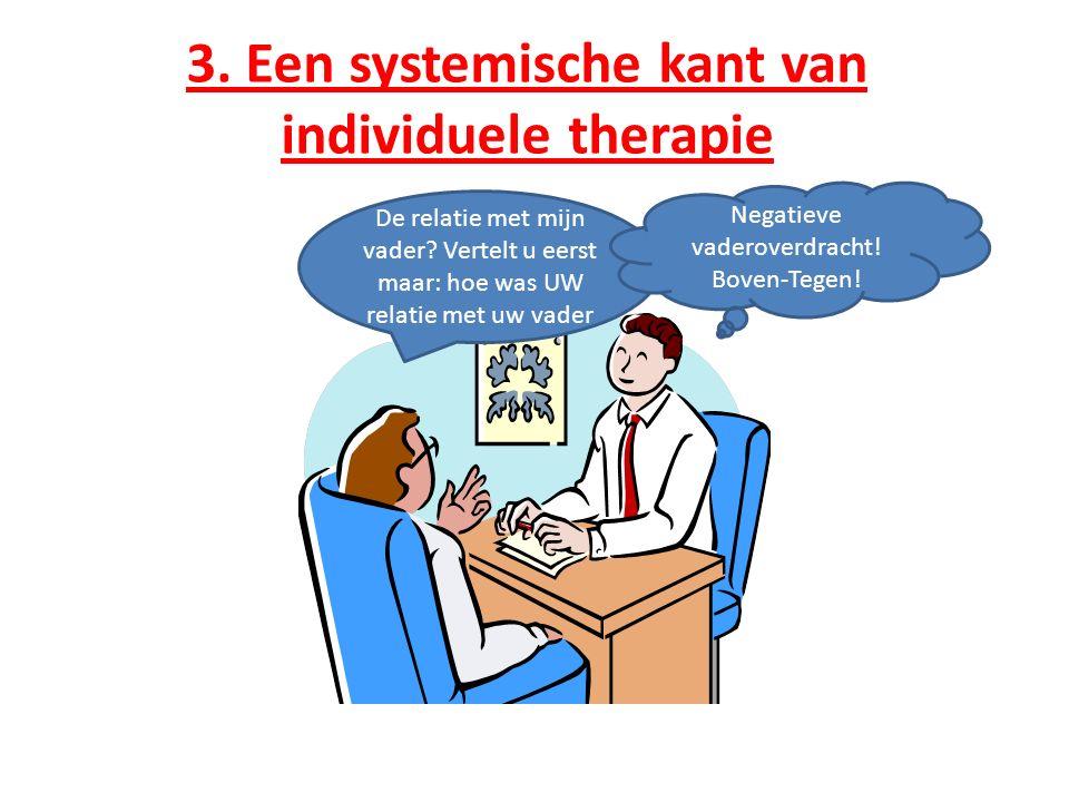 3. Een systemische kant van individuele therapie De relatie met mijn vader.
