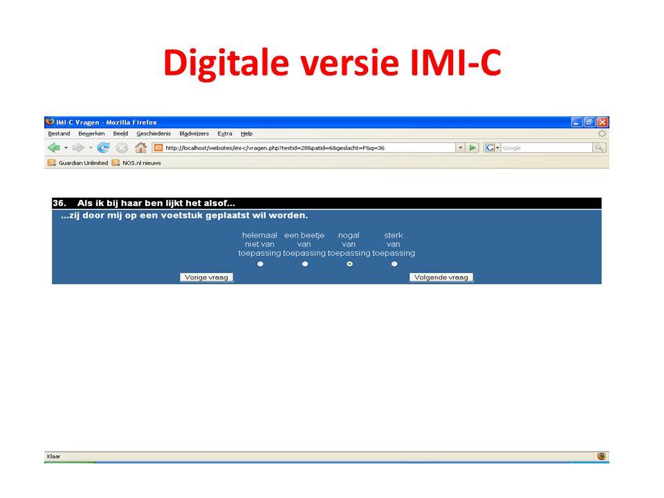 Digitale versie IMI-C