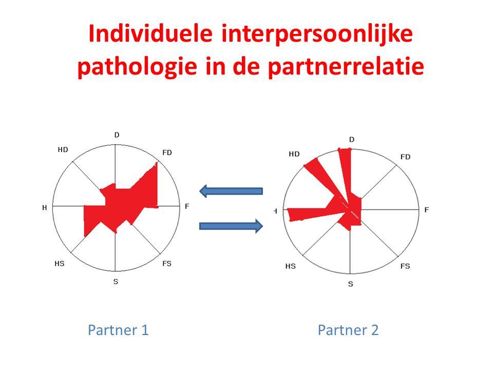 Individuele interpersoonlijke pathologie in de partnerrelatie Partner 1Partner 2