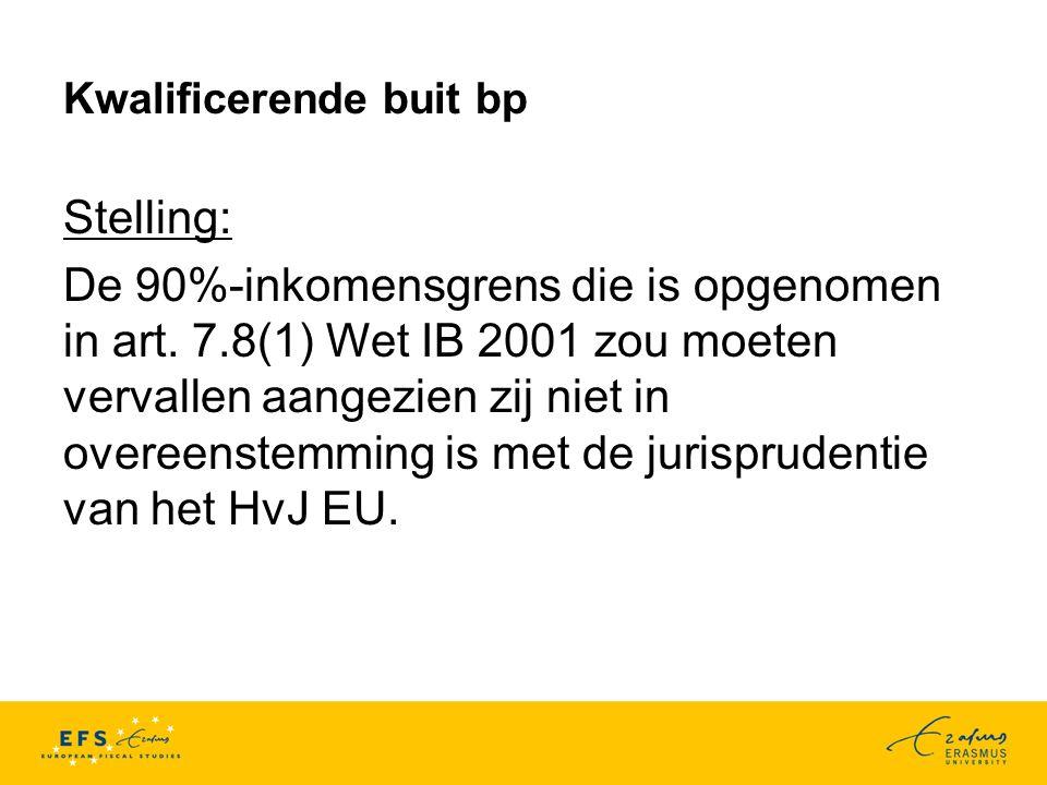 Kwalificerende buit bp Stelling: De 90%-inkomensgrens die is opgenomen in art.
