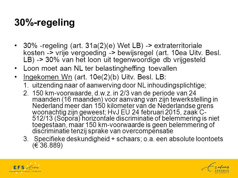 30%-regeling 30% -regeling (art.