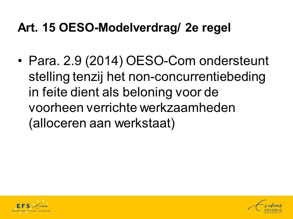 Art.15 OESO-Modelverdrag/ 2e regel Para.