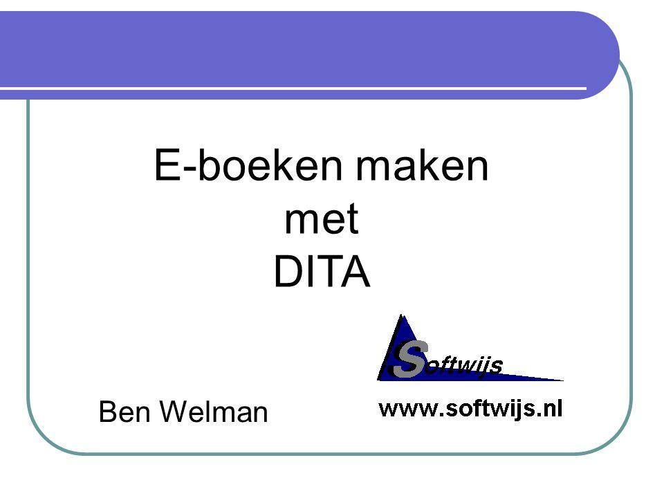 Ben Welman E-boeken maken met DITA