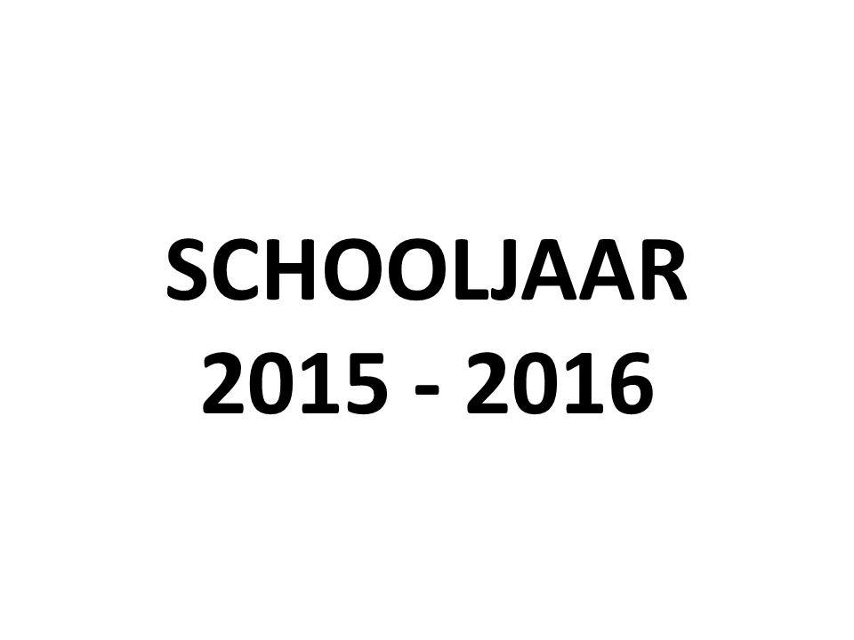 SCHOOLJAAR 2015 - 2016