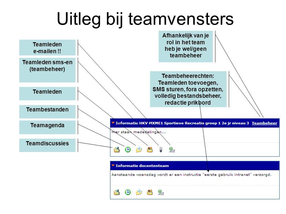 Teamleden e-mailen !.