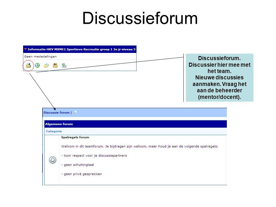 Discussieforum. Discussier hier mee met het team.
