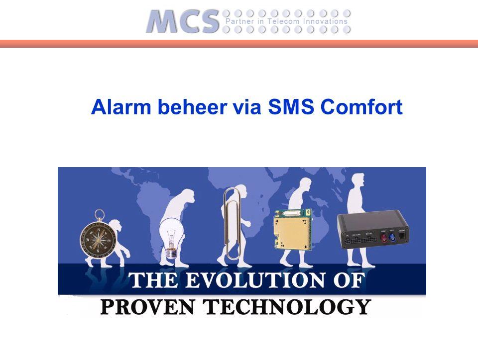 Alarm beheer via SMS Comfort