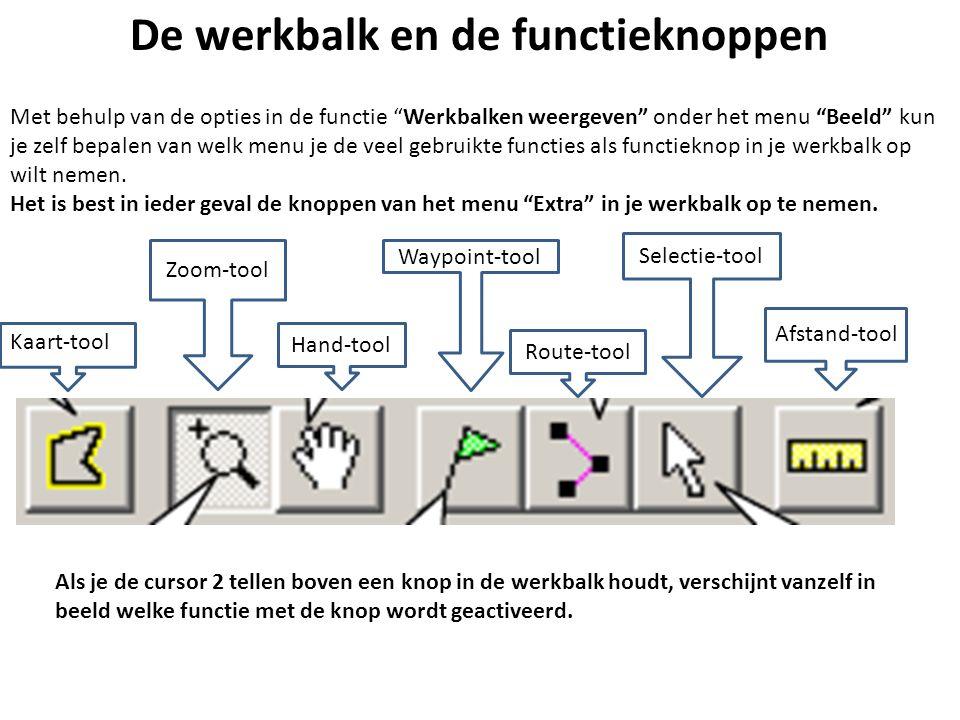 """De werkbalk en de functieknoppen Met behulp van de opties in de functie """"Werkbalken weergeven"""" onder het menu """"Beeld"""" kun je zelf bepalen van welk men"""