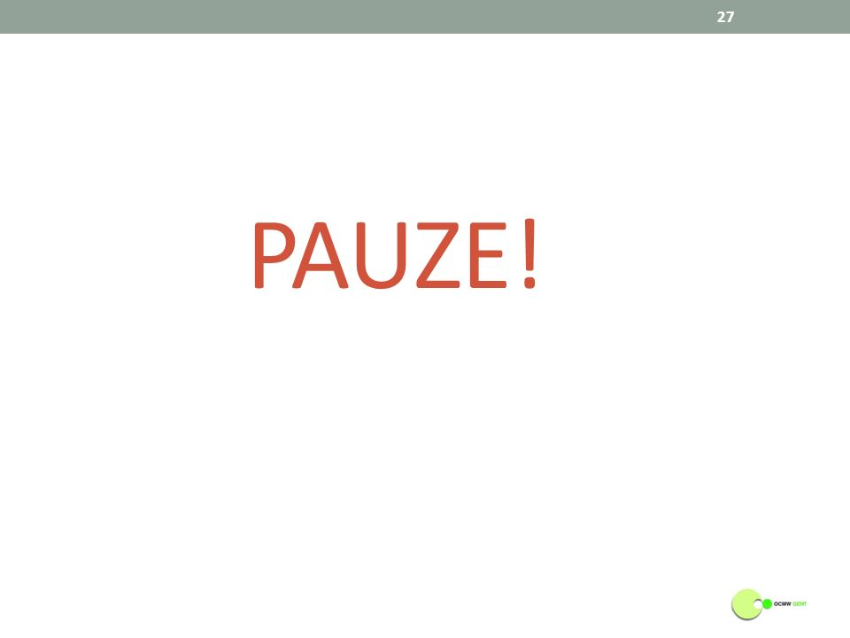 PAUZE! 27