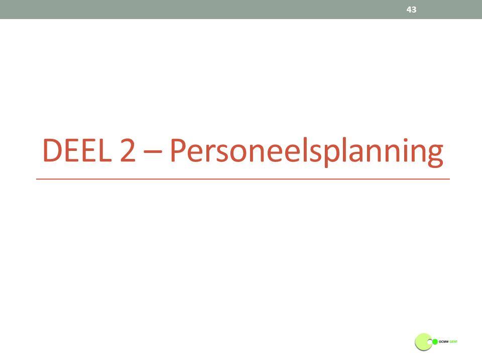 DEEL 2 – Personeelsplanning 43