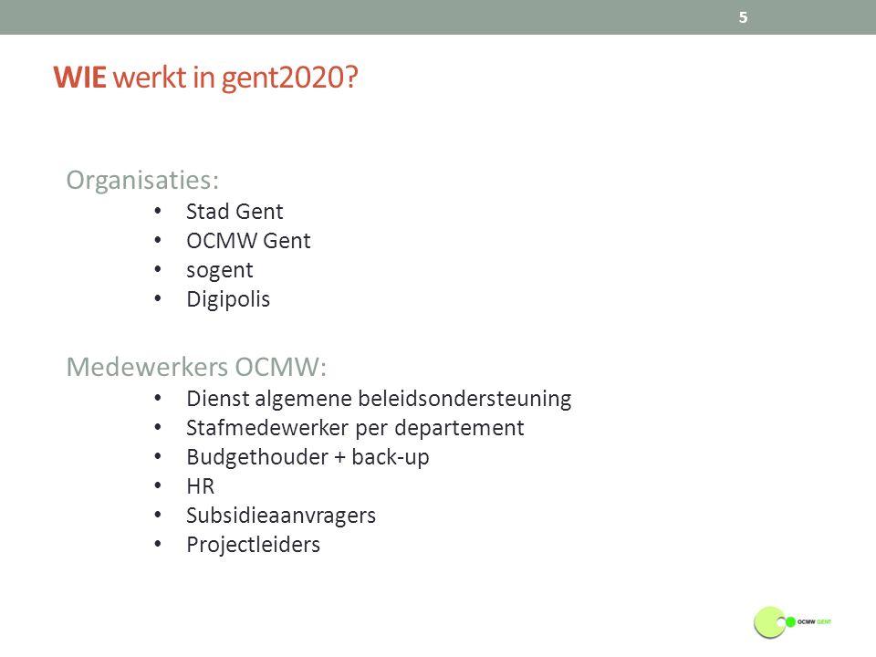 Wat is de RELATIE tot andere systemen.6 Gent2020 SAP Cevips Ondersteunende systemen 1.
