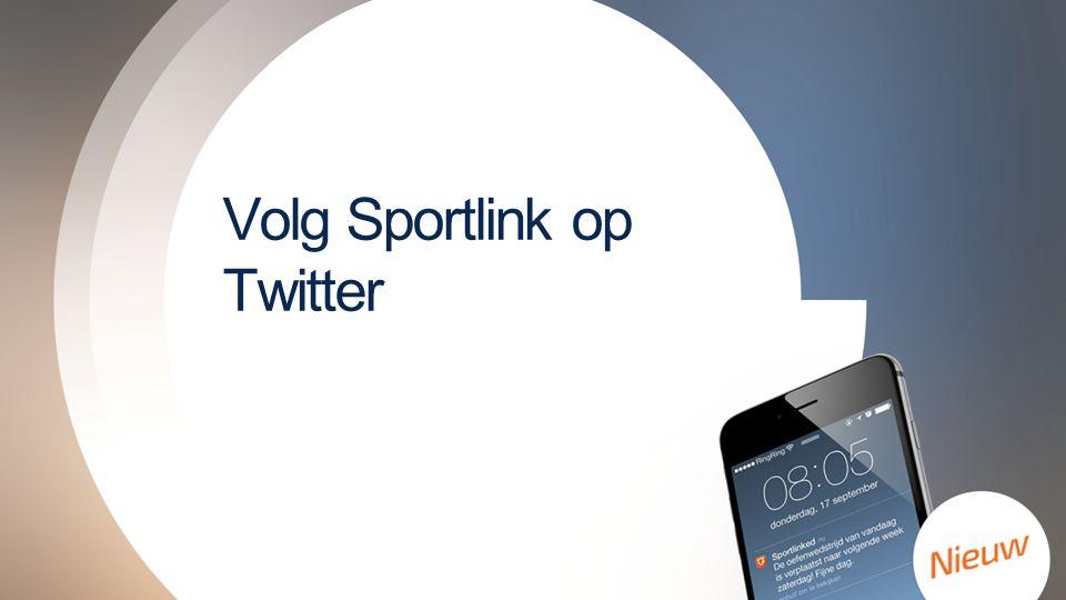 Volg Sportlink op Twitter