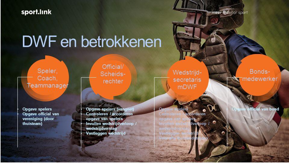 Digitaal W edstrijd Formulier (DWF) Als thuisteam: official vervangen