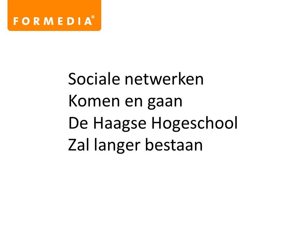 Sociale netwerken Komen en gaan De Haagse Hogeschool Zal langer bestaan
