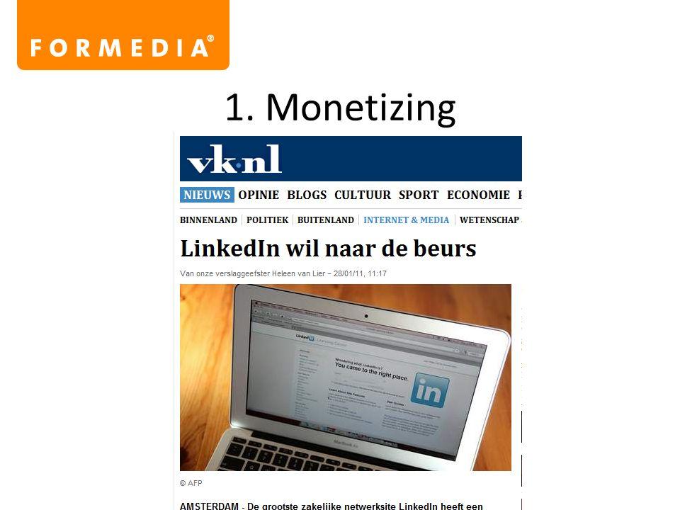 1. Monetizing