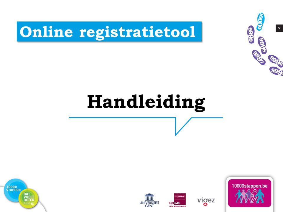 2 Online registratietool Handleiding