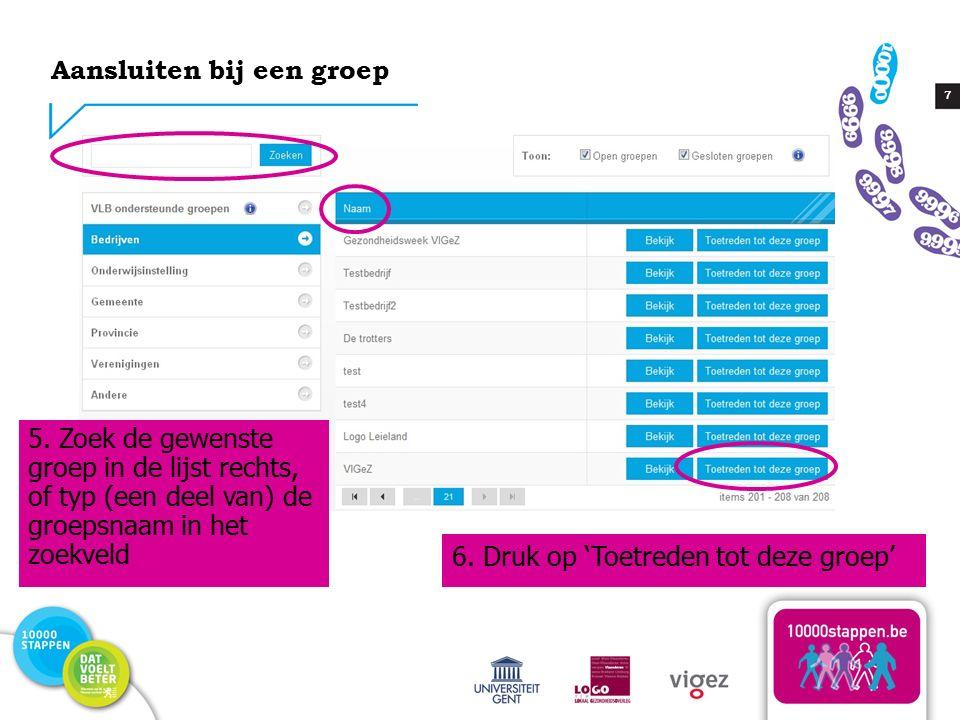 28 Een subgroep aanmaken 1.Ga naar 'Mijn huidige groepen' in de rubriek 'Groepen' 2.