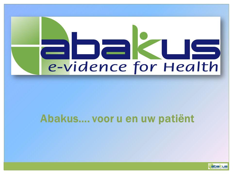 Abakus…. voor u en uw patiënt