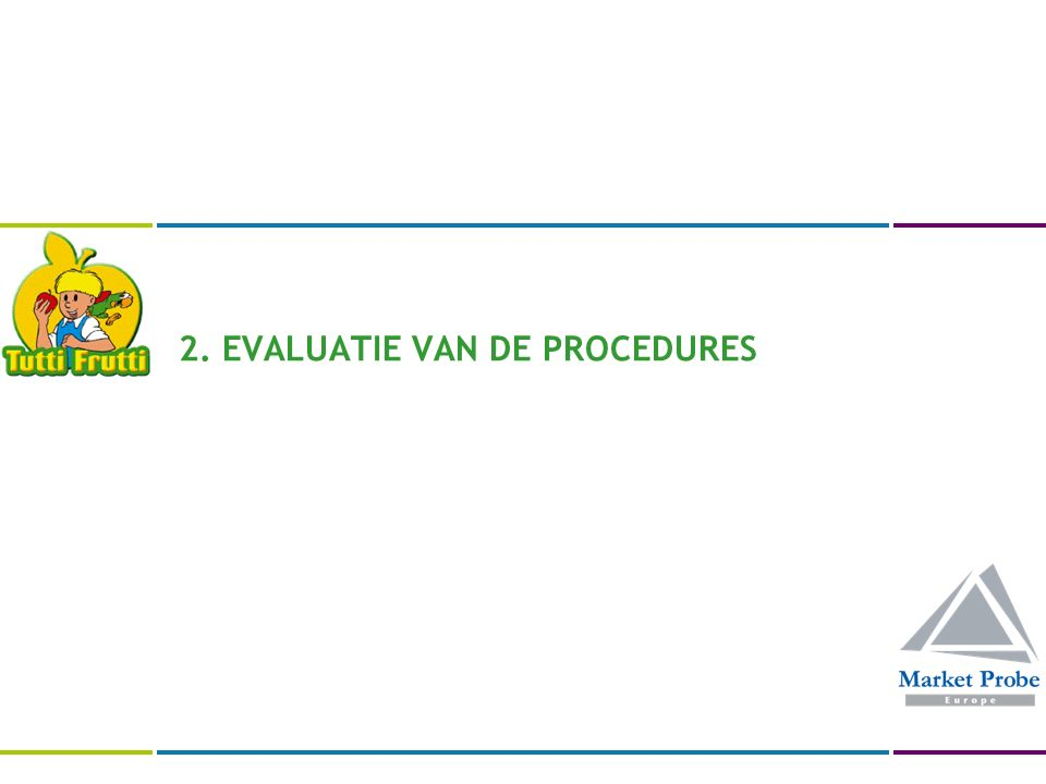 2. EVALUATIE VAN DE PROCEDURES
