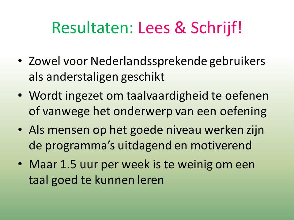 Resultaten: Lees & Schrijf.