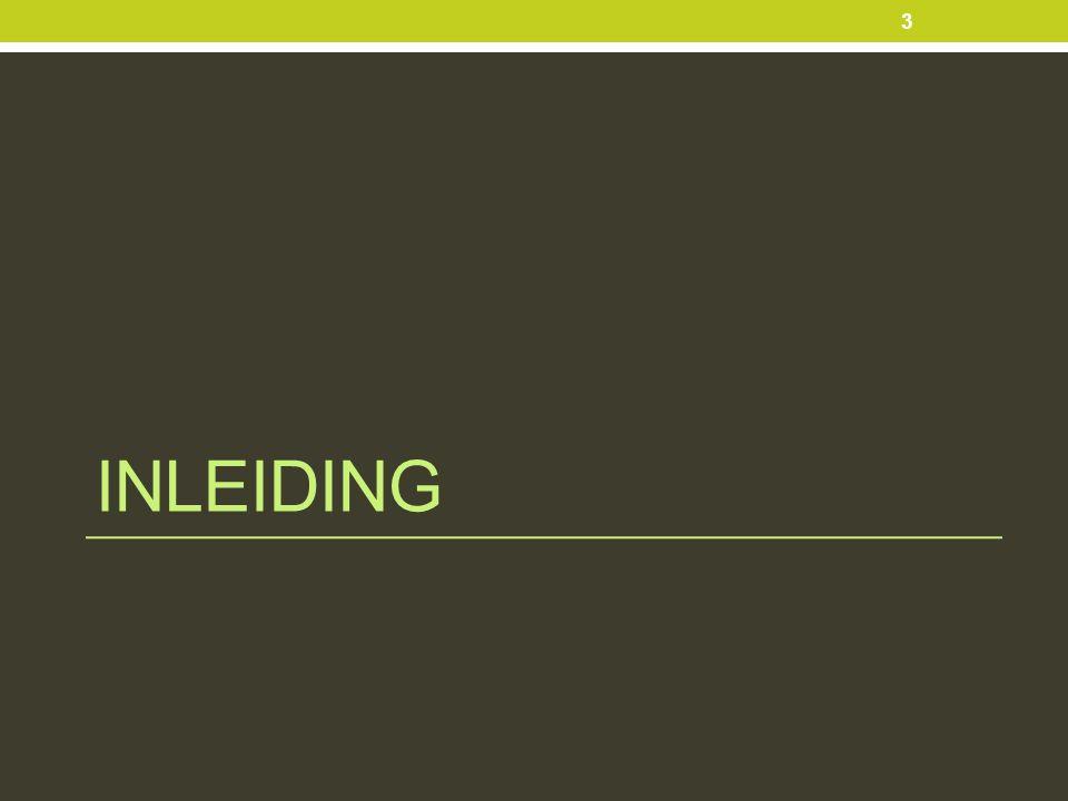 INLEIDING 3