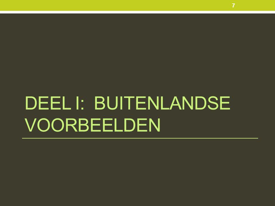 DEEL I: BUITENLANDSE VOORBEELDEN 7
