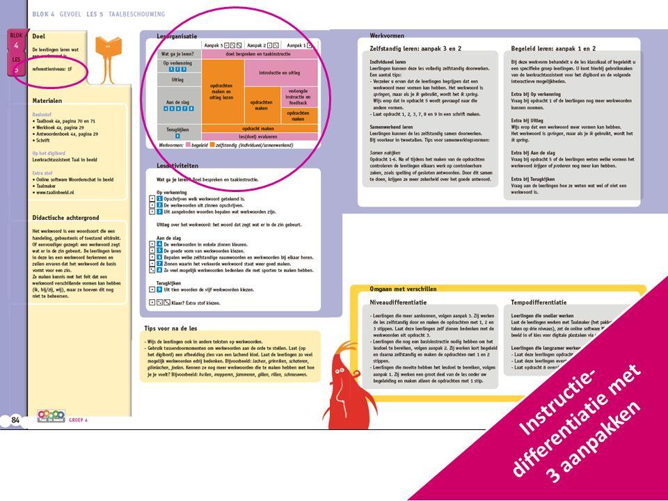 Instructie- differentiatie met 3 aanpakken
