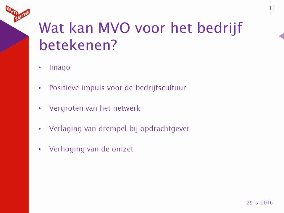 Wat kan MVO voor het bedrijf betekenen.
