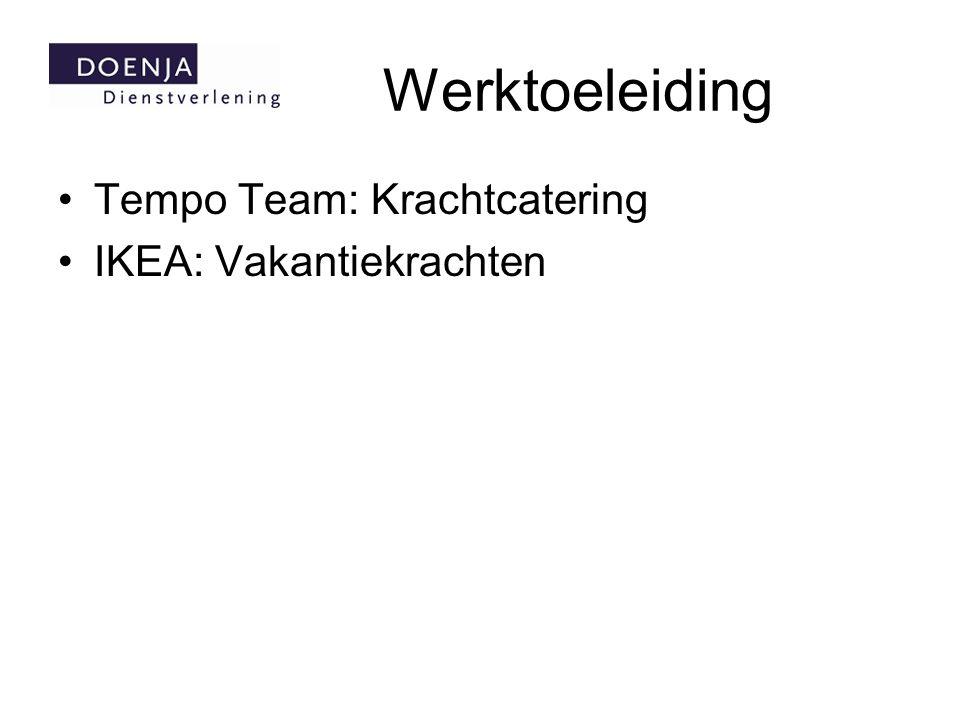 Werktoeleiding Tempo Team: Krachtcatering IKEA: Vakantiekrachten