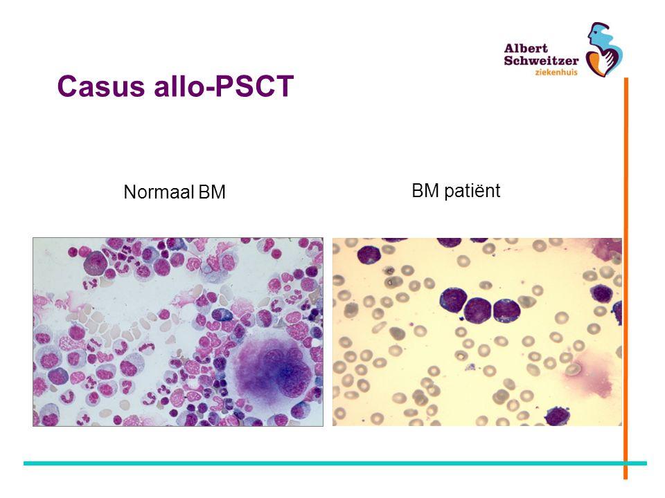 Casus allo-PSCT BM patiënt Normaal BM