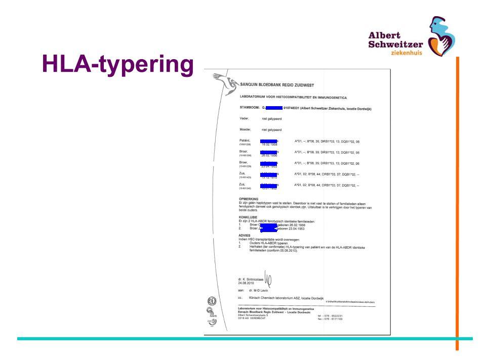 Conditionering Myeloablatieve (= geen herstel BM) conditionering Non - myeloablatieve conditionering –RIC-transplantatie = Reduced Intensity Conditioning