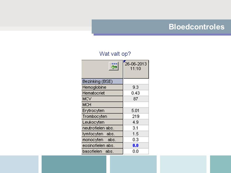 Bloedcontroles Wat valt op?