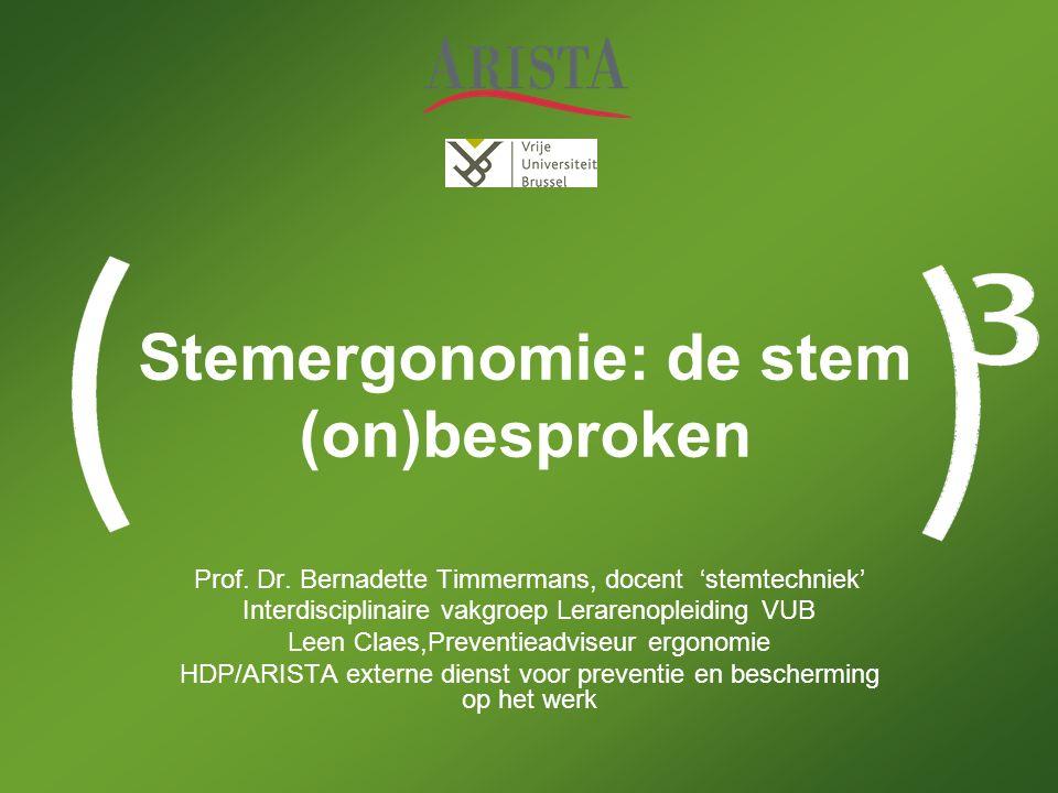 Stemergonomie: de stem (on)besproken Prof. Dr.