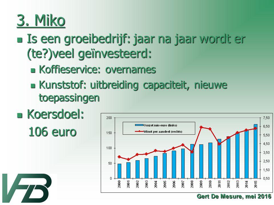 3. Miko Is een groeibedrijf: jaar na jaar wordt er (te?)veel geïnvesteerd: Is een groeibedrijf: jaar na jaar wordt er (te?)veel geïnvesteerd: Koffiese