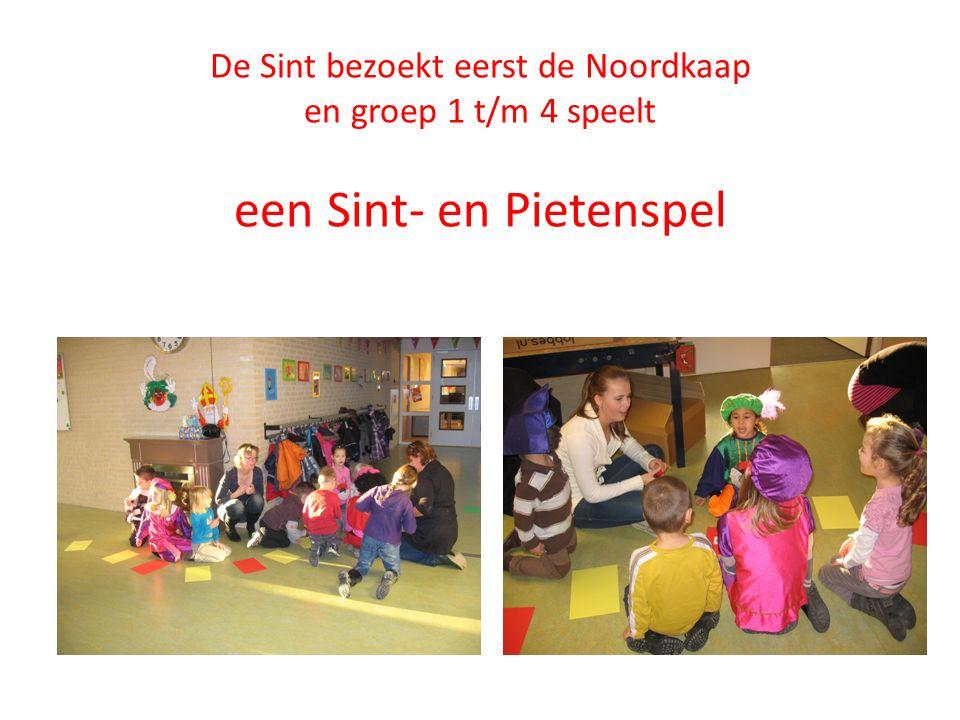 De Sint bezoekt eerst de Noordkaap en groep 1 t/m 4 speelt een Sint- en Pietenspel