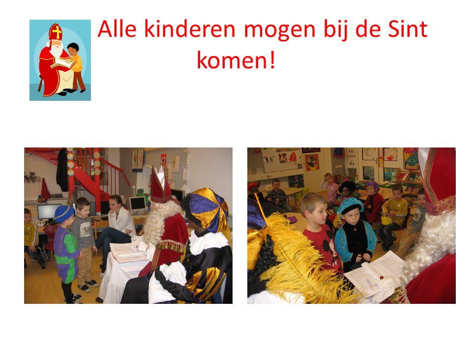Alle kinderen mogen bij de Sint komen!