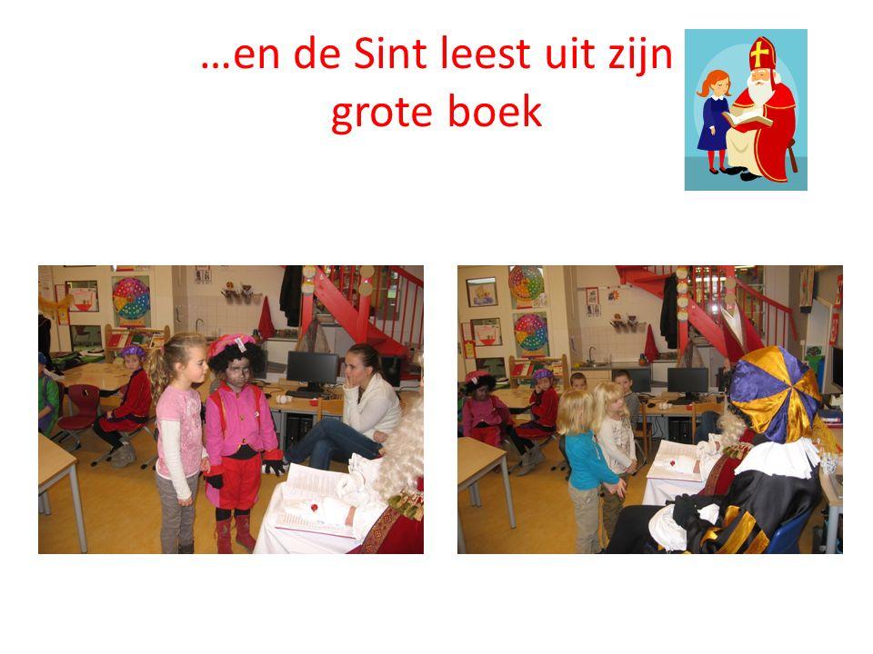 …en de Sint leest uit zijn grote boek