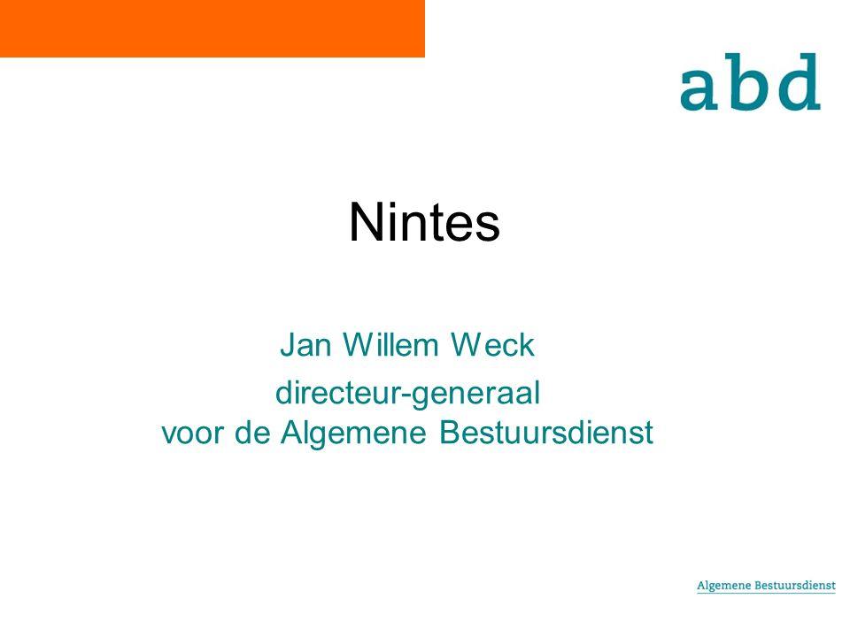 Nintes Jan Willem Weck directeur-generaal voor de Algemene Bestuursdienst