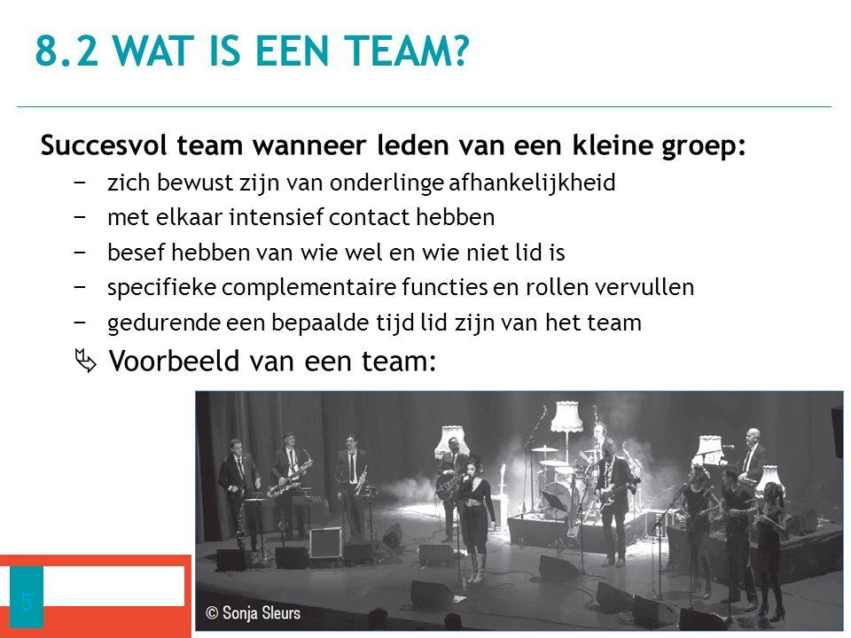 1.Adviserende teams 2. Zelfsturende teams 3. Projectteams 4.