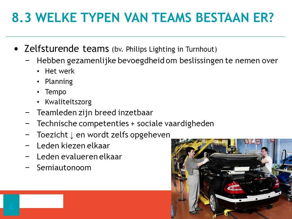 Zelfsturende teams (bv.
