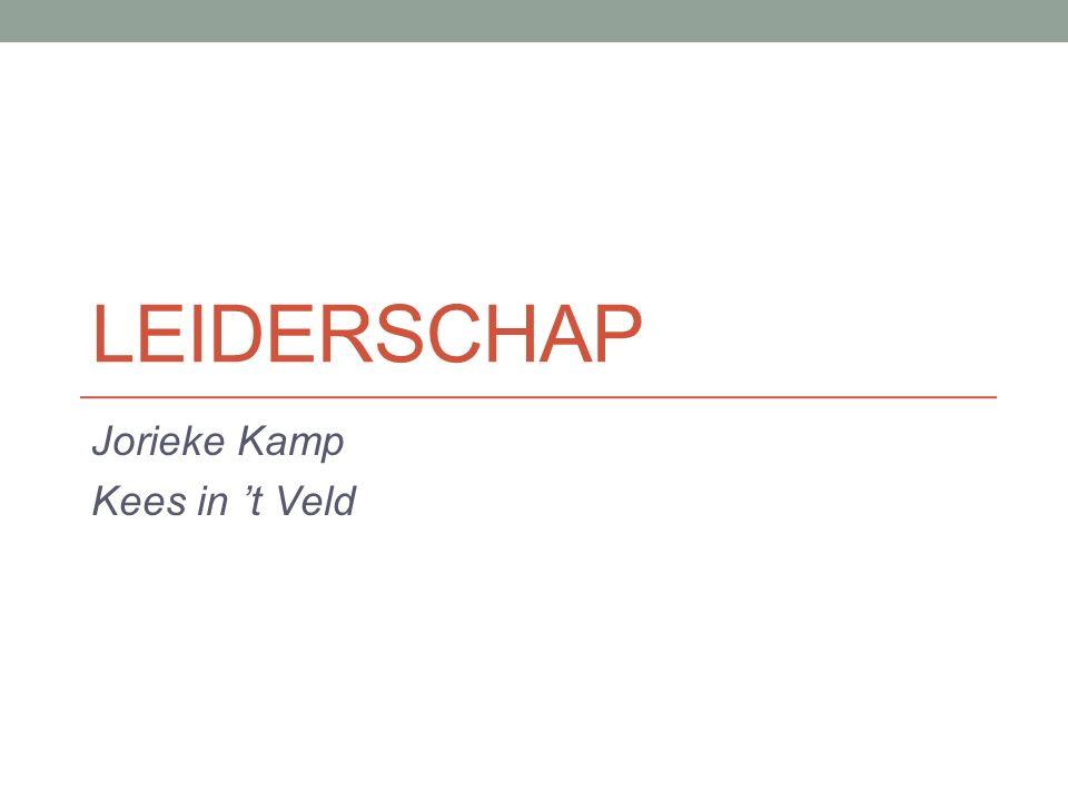 LEIDERSCHAP Jorieke Kamp Kees in 't Veld
