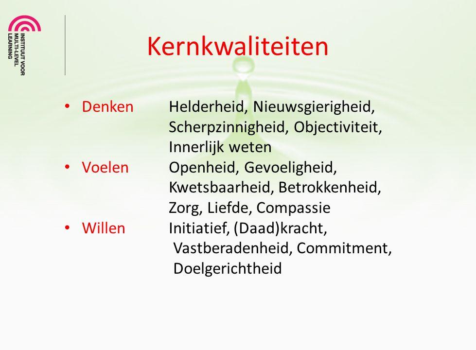 Vaardigheden Kernkwaliteiten IJsberg model KERNPOTENTIEEL: Inspiratie & idealen