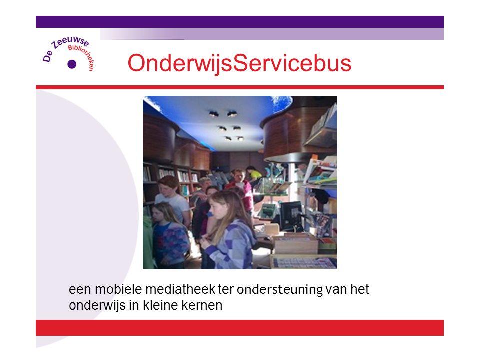 OnderwijsServicebus een mobiele mediatheek ter ondersteuning van het onderwijs in kleine kernen