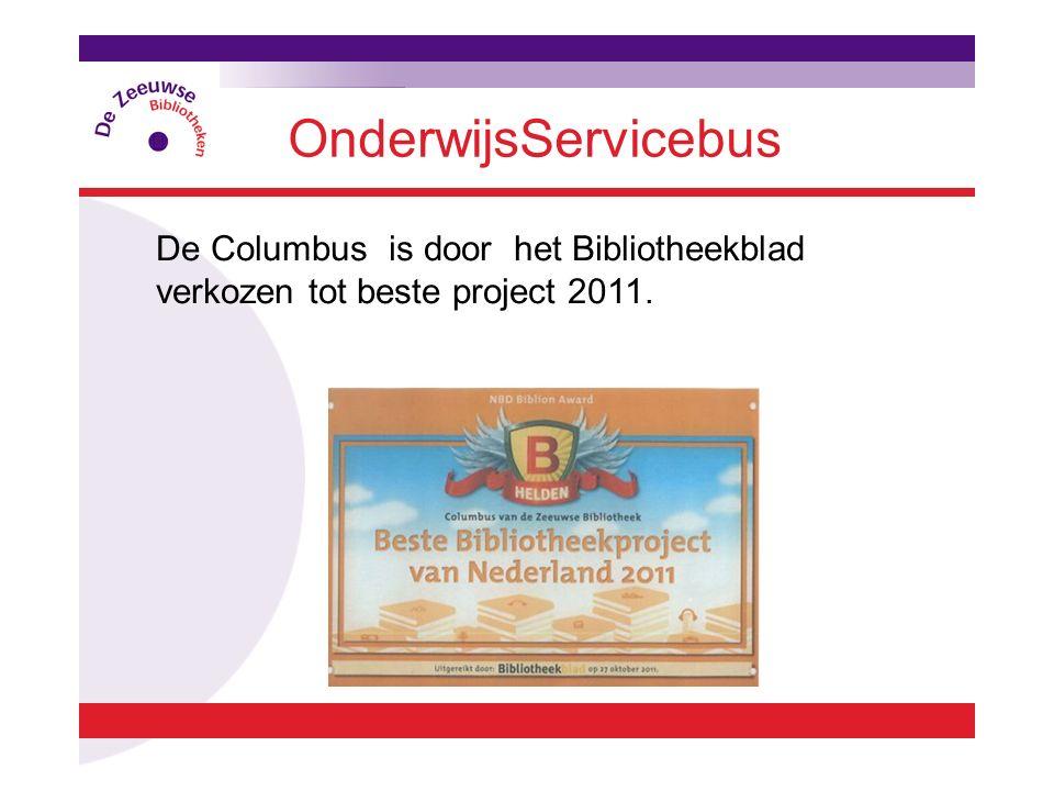 De Columbus is door het Bibliotheekblad verkozen tot beste project 2011. OnderwijsServicebus
