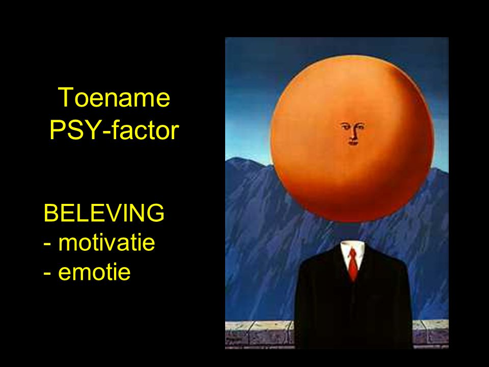 Toename PSY-factor BELEVING - motivatie - emotie